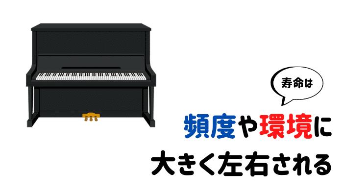 ピアノの寿命は環境で変わる